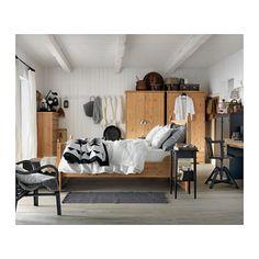 HEMNES Noční stolek - černohnědá - IKEA