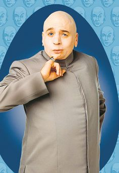 Jim Carrey was originally supposed to play Dr. Evil, but had to eventually pass due to scheduling conflicts with his film Liar Liar. Austin Powers Characters, Austin Powers Series, Austin Powers Yeah Baby, Villains Party, Dr Evil, Greatest Villains, Punch In The Face, The Austin, Low Poly Models