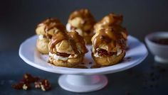 BBC - Food - Recipes : Caramel and coffee choux buns