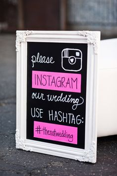 Love this idea. Come up with a unique hash tag so you can keep track of all the photos taken at your wedding!