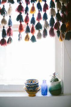 Boho living. Bohemian home decoarting. African bohemian decorating. Afro bohemian kitchens. Boho kithcen decor. Boho window dressing. Boho windows.
