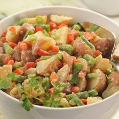 Zesty Potato Salad (Intermediate; 11 servings) #potato salad #picnic