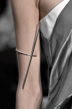 Sleek Arm Cuff - minimalist jewellery; runway fashion details // Christine Phung Fall 2015