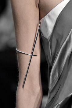 Sleek Arm Cuff - minimalist jewellery; runway fashion details // Christine Phung Fall 2015