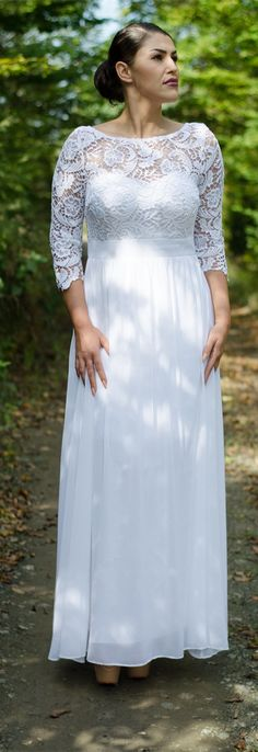 prom dress long,white prom dress,dress lace,party dress long ,long evening dress,dress evening,dress for party,party prom wear,simple wedding dress,casual lace dress from Ever-Pretty Dress