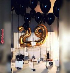 Surprise for him. ♡ Surprise for him. Birthday Balloon Surprise, Birthday Surprise For Husband, Birthday Surprises For Him, Surprises For Husband, Birthday Table, Birthday Gift For Him, Birthday Parties, Diy Birthday, Anniversary Surprise For Him