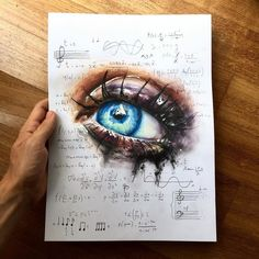 WANT A FEATURE ? CLICK LINK IN MY PROFILE !!! Tag #LADYTEREZIE Repost from @elia_pelle - art of music - New realistic eye drawing with math equations of music configurations. Drawing realized with prismacolor and @winsorandnewton watercolors. Which is your favorite song? via http://instagram.com/ladyterezie