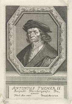 Johann Friedrich Leonard | Portret van Anton Tucher, Johann Friedrich Leonard, 1672 | Portret van Anton Tucher, raadsheer te Neurenberg.