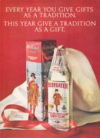 Beefeater Gin Gift Tradition 1972 Ad Picture