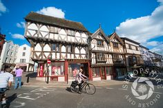 Half-timbered buildings in the medieval market town of #Ludlow, #Shropshire, England.