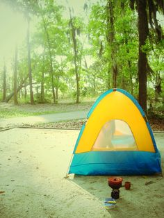 Camping at Fort McAllister State Park, GA.