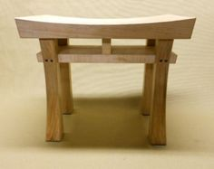 Items similar to Asian Style Stool Bench (size small) Made to Order Maple, Oak, Cherry, Walnut, or Mahogany on Etsy