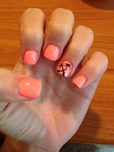 Nail art is one of the best strategies to make your fingers look sexy and attractive. There are several nail designs and lacquered nails in between. Spring Nail Art, Spring Nails, Summer Nails, Hawaii Nails, Beach Nails, Beach Vacation Nails, Beach Themed Nails, Florida Nails, Manicure