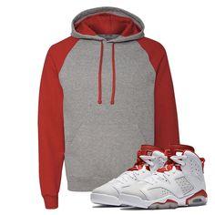 RAGLAN HOODIE- Jordan Alternate 6's Sneaker Match T-Shirt Tees