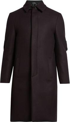 FENDI Bag Bugs shearling-embellished wool-blend coat