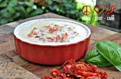 Peace, Love, and Low Carb: Sun-dried Tomato Coconut Cream Sauce