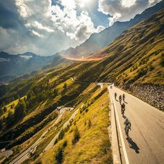 Ötztaler Radmarathon is a 238km long cycling tour in the Alps.  have to ride over 4 mountain passes, totaling 5,500m in altitude. Highest : 2,509m! Now that's a challenge!  : Jürgen Skarwan #cycling #austria #marathon