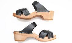 695 low sandal black vegie - clogs & sandals