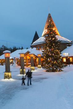 Why Every Christmas Lover Needs to Visit Rovaniemi, Finland Santa Claus Village, Santa's Village, Lapland Holidays, Outdoor Christmas, Christmas Trees, Christmas Decorations, Lapland Finland, Santa And Reindeer, Winter Travel