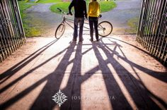 Golden Gate Park Conservatory of Flowers Engagement    Bicycle Balloons Shadows