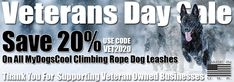 Veterans Day Sale - Save 20% On All Climbing Rope Dog Leashes. Rope Dog Leash, Climbing Rope, Natural Baby, Veterans Day, Big Dogs, Dog Training, Babies, Rock Climbing Rope, Babys