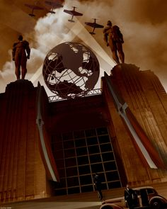 """Global Power (in art deco style)  Photo manipulation by StefanParis  One of many great """"Dieselpunk"""" images created by StefanParis."""