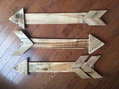 Pallet wood arrow arrow wooden arrow wall by ClaireLanereclaim