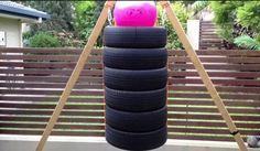 Saco de boxeo con ruedas