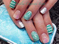 Day 137: Green & Pink Stamped Nail Art - - NAILS Magazine