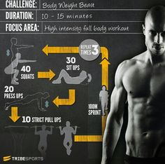 Workout for men:
