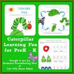 Free Printable Caterpillar Pack