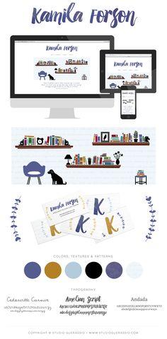 Kamila Forson (freelance fiction copy editor) identity and website, by Studio Guerassio. #websitedesign #logodesign #design #branding