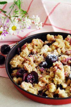 Grießschmarrn mit Kirschen Crepes, Austrian Recipes, Acai Bowl, Oatmeal, Sweets, Breakfast, Food, Cakes, Eat Lunch