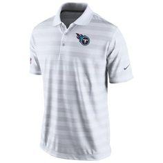 Mens Nike White Tennessee Titans Preseason Performance Polo ( 70) Camisetas  Deportivas c7910fd9260