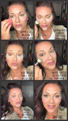 Makeup Baking 101 Easy how-to guide to baking. Avoid makeup getting stuck in the creases of your eyes by following these easy steps.