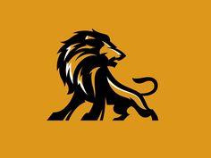 Lion illustration by Carlos Fernandez Popular Lion Design, Web Design, Lion Noir, Lion Icon, Lion Wallpaper, Logo Real, Esports Logo, Cat Logo, Lion Tattoo