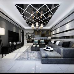 Good color and reflection Living Room Design Small Spaces, Luxury Living Room Design, Home Room Design, Ceiling Design Modern, Luxury Ceiling Design, Ceiling Design Living Room, Living Room Partition Design, Bedroom False Ceiling Design, Ceiling Design Bedroom