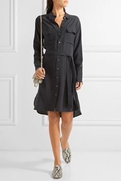 Equipment | Delany washed-silk shirt dress | NET-A-PORTER.COM