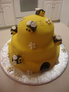 Honey Bee Hive cake