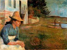 Edvard Munch - Sunset, Laura the Sister of the Artist 1888