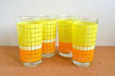 70's drinking glasses