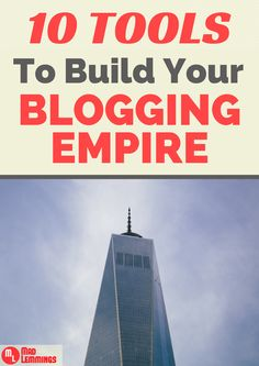 Learn how to pros built their blogging empires and 10 amazingly simple tools you can use to help you achieve the same success http://madlemmings.com/2015/04/22/10-tools-blogging-empire/ #bloggingtips #blogging #contentmarketing