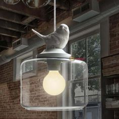 New Country style White bird Ceiling Light Pendant Lamp Chandelier Lighting 20cm | eBay
