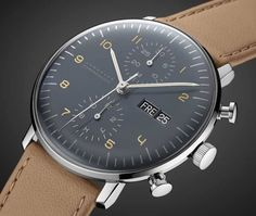 Max Bill by Junghans in new colors - Neue Uhren / Fine Timepieces - Watches Best Watches For Men, Luxury Watches For Men, Cool Watches, Men's Watches, Casual Watches, Watch For Men, Modern Watches, Male Watches, Vintage Watches For Men