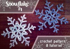 Snowflakes - Free Crochet Pattern & Tutorial · The Magic Loop Knit Christmas Ornaments, Crochet Ornaments, Christmas Knitting, How To Make Ornaments, Diy Christmas Gifts, Crochet Crafts, Christmas Stuff, Magic Loop Crochet, Crochet Stitches Free