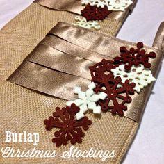 burlap christmas stockings | mostlsewing.com