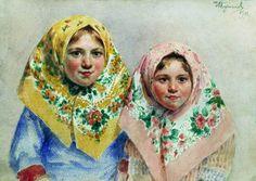 Куликов Иван Семенович (1875 - 1941) -  Девочки. 1918