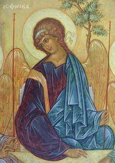 . Byzantine Icons, Byzantine Art, Religious Icons, Religious Art, Russian Icons, Religious Paintings, Biblical Art, Archangel Michael, Art Icon