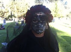 "Model wearing ""Boudoir"" at the Dia de Los Muertos festival Hollywood Forever Cemetery 2012."