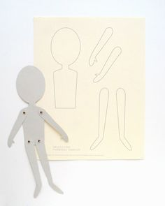 """diy paper dolls-I'm thinking use the template to make cloth """"paper"""" dolls. Instead of brads sew small buttons to body of doll and attach limbs with button holes."""